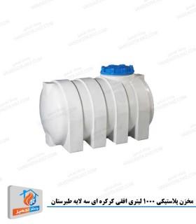 مخزن پلاستیکی 1000 لیتری افقی کرکره ای سه لایه طبرستان