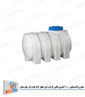 مخزن پلاستیکی 1000 لیتری افقی کرکره ای چهار لایه فوم دار طبرستان